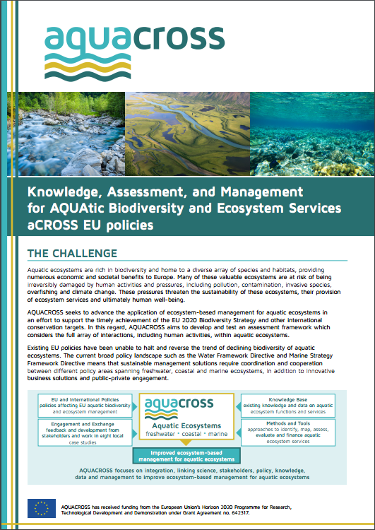 AQUACROSS Leaflet Cover